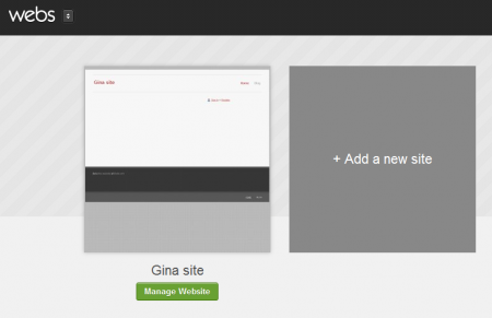 the New control panel webs.com